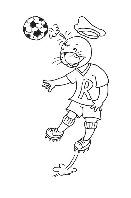 Robby beim Fußball